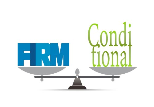 Firm or conditional offer: what's right for you?